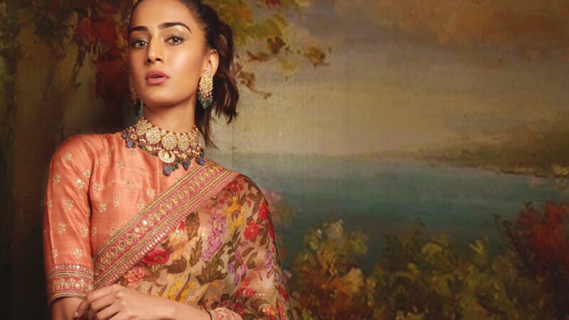 Erica Fernandes looks Gorgeous in Royal Saree